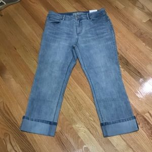 Chico's light jeans 1.5 nwt cuffed